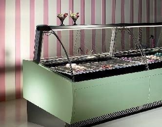 comptoir réfrigéré de chocolat