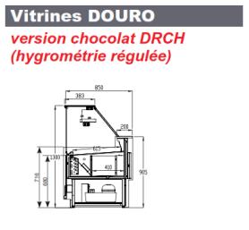 comptoir réfrigéré de chocolaterie