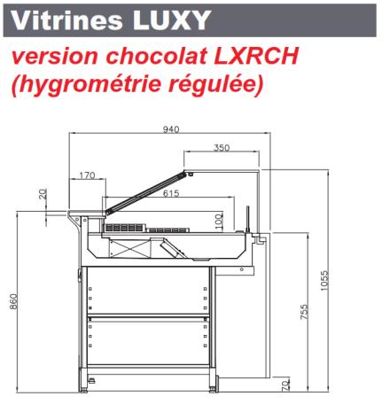 vitrine réfrigérée chocolat