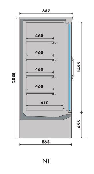 armoire de congélation libre service