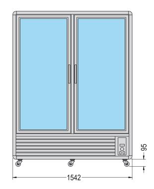 vitrine réfrigérée verticale double