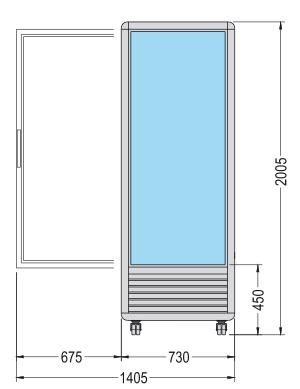 vitrine réfrigérée verticale simple