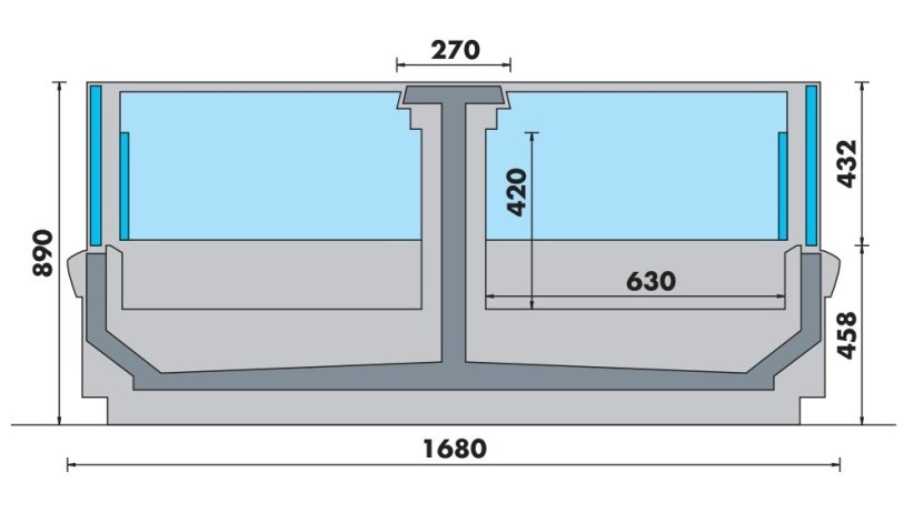 vitrine négative horizontale