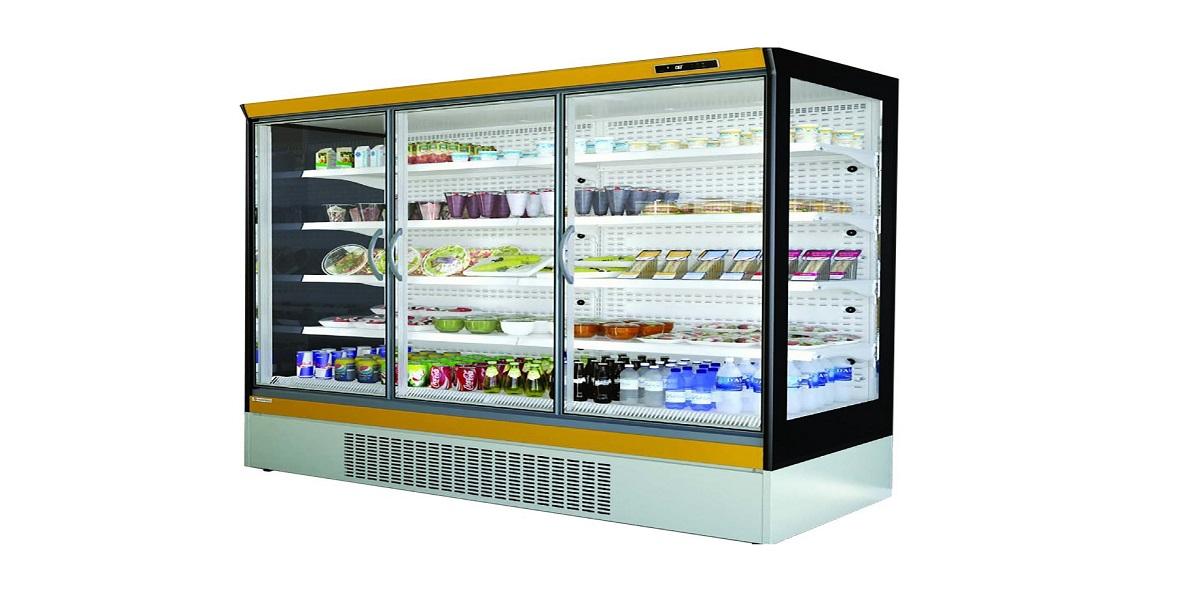 vitrine réfrigérée libre service